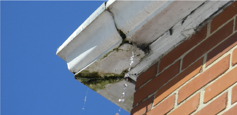 Gutter cleaning prevents joint leaks