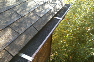 Foam Gutter Guard Installed
