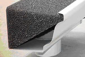Gutter guard foam insert profile