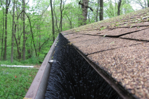 Gutter brush installation