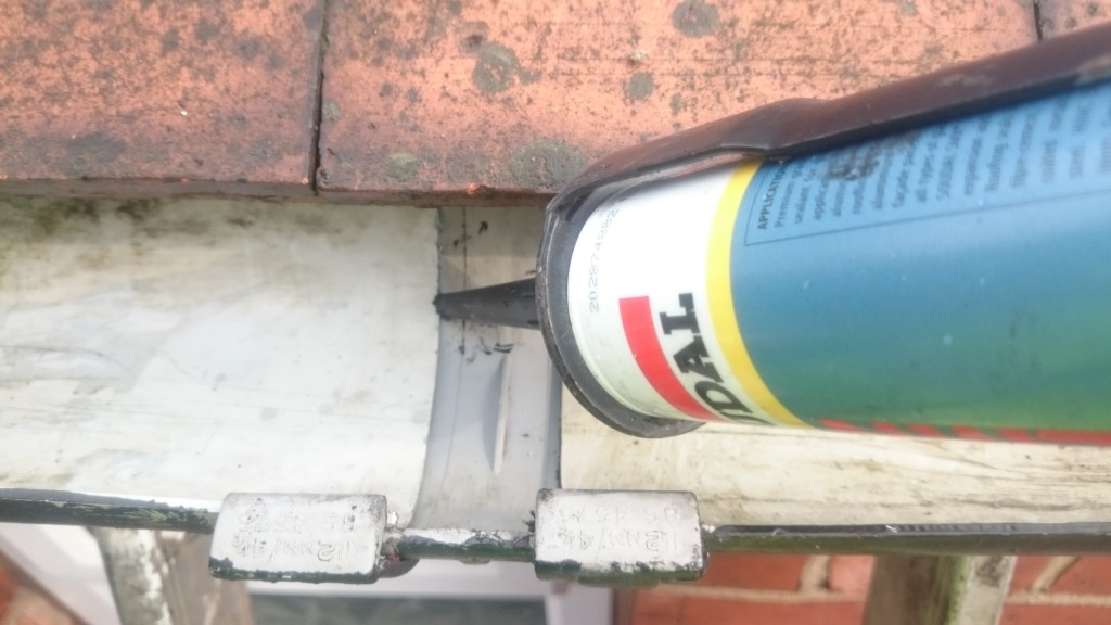 how to use gutter sealant